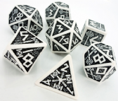 White & Black Dwarven Dice Set